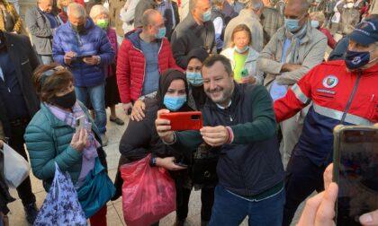Matteo Salvini è arrivato a Vimercate