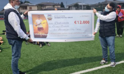 In campo per Fily c'era anche Lorenzo: ha donato 12mila euro all'associazione