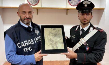 I Carabinieri per la Tutela del Patrimonio Culturale restituiscono un'opera d'arte razziata dalla Gestapo