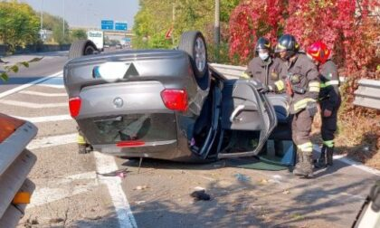 Ribaltamento in superstrada, intervengono i Vigili del Fuoco