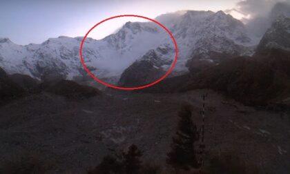 Il video della prima valanga sul Monte Rosa: ad ottobre è un evento raro